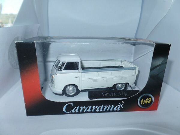 Cararama 251PND7W 1/43 O Volkswagon VW Transporter T1 Pick Up Open White Grey